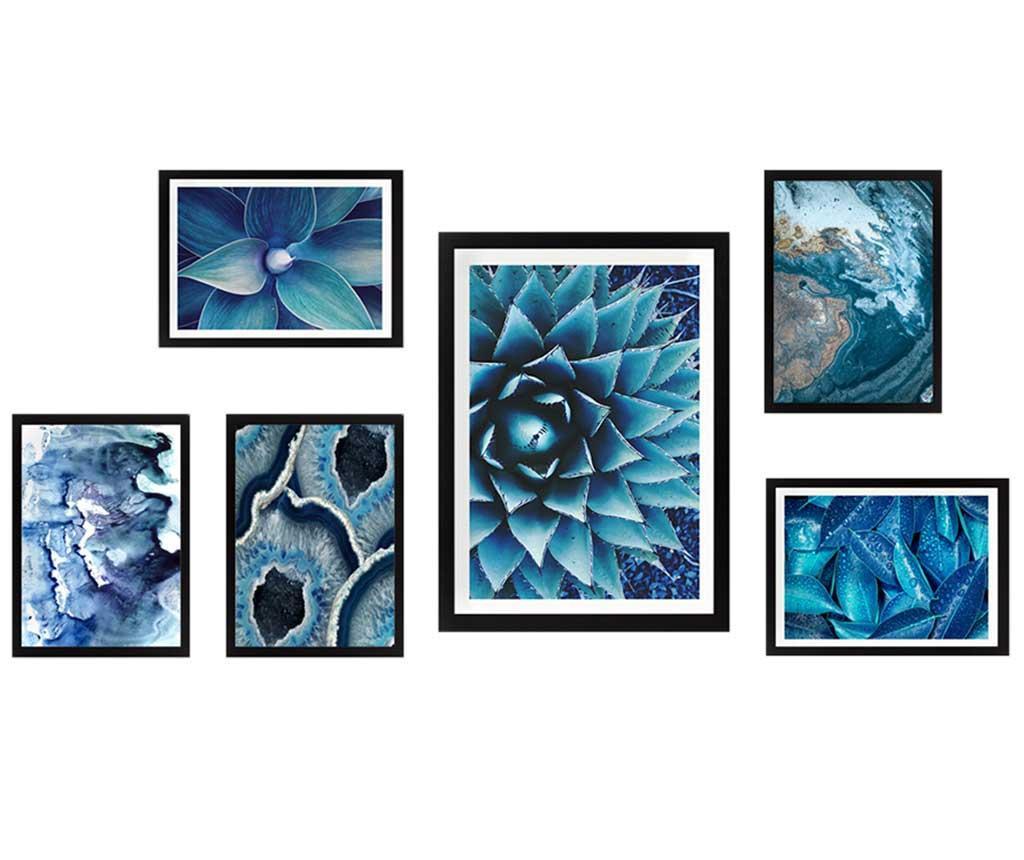 Set 6 tablouri Wild Blue