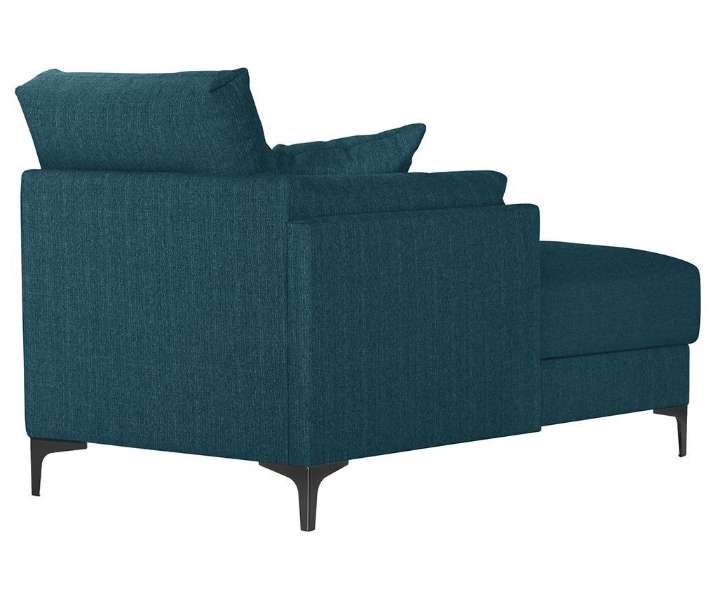 Levi počivalnik za dnevno sobo Desire Turquoise