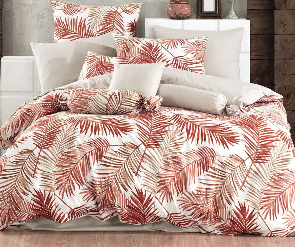 Lenjerie de pat King Ranforce Palms Orange