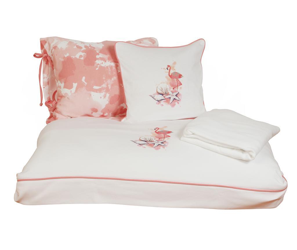 Otroška posteljnina Sateen Supreme Rosa White