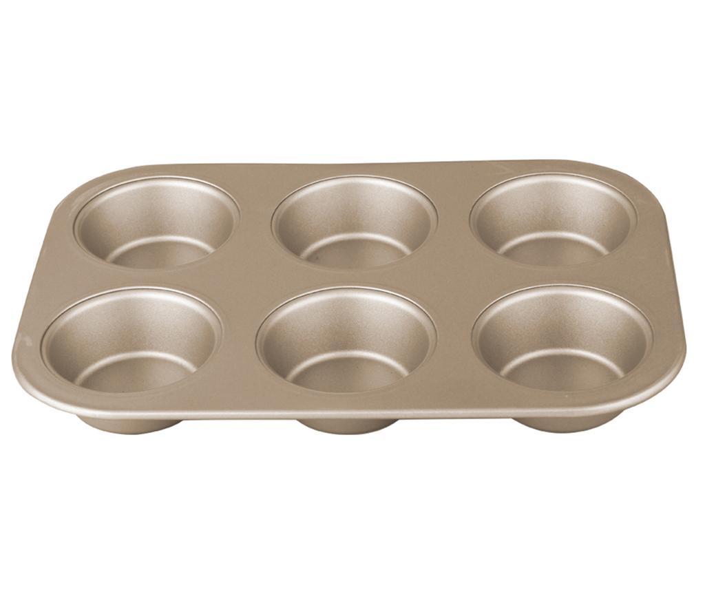 Bronze Pastry Muffin sütőforma 6 muffinnak