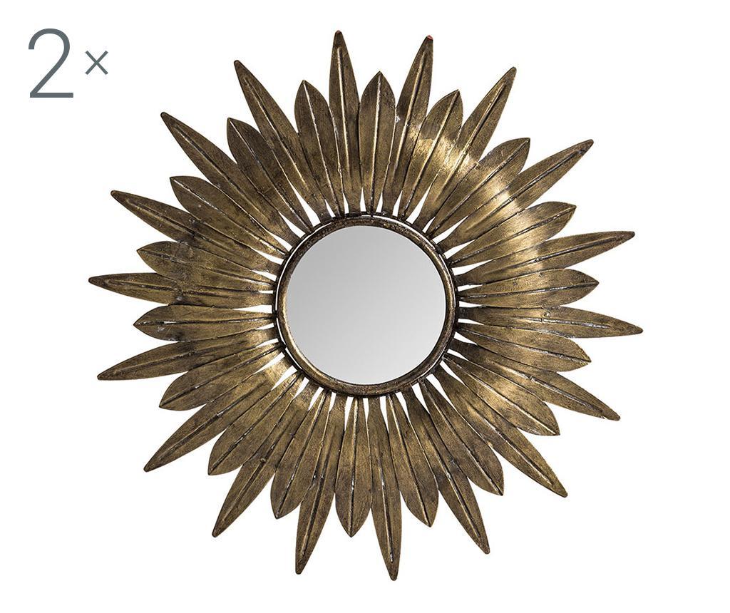 Set 2 dekoracij z ogledalom Solar