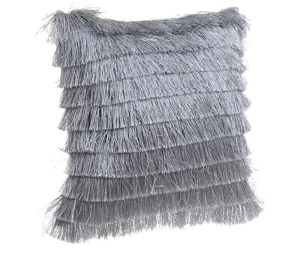 Perna decorativa Daisha Fringes Grey 40x40 cm