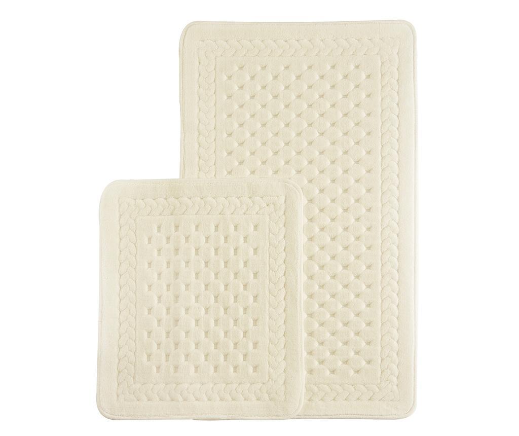 Lace Crem 2 db Fürdőszobai szőnyeg