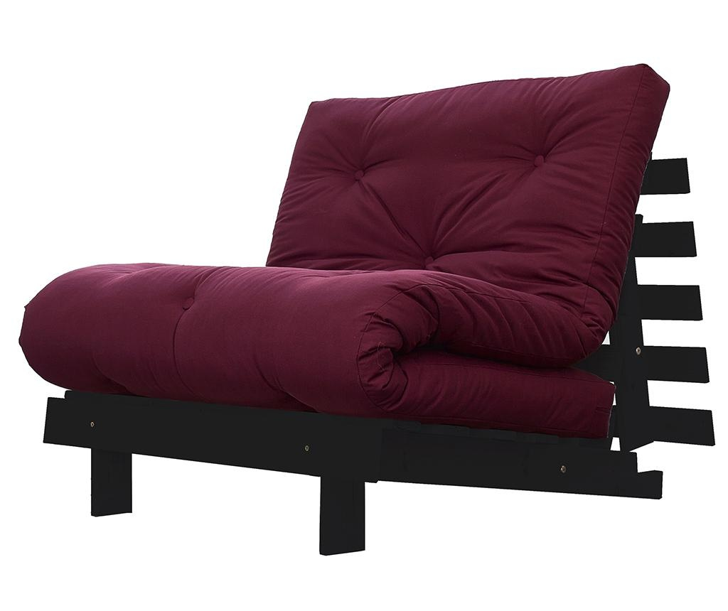 Sofa extensibila Roots Wenge and Bordeaux Red