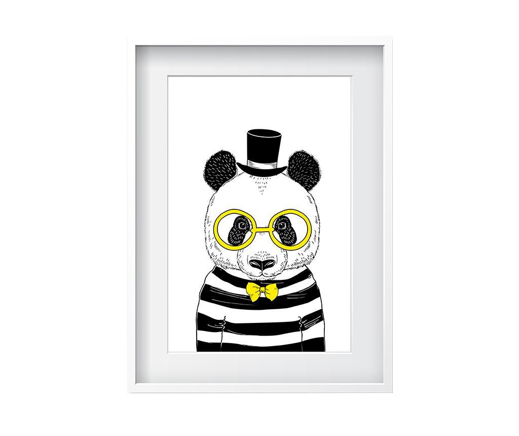 Tablou Hipster Panda 24x29 cm