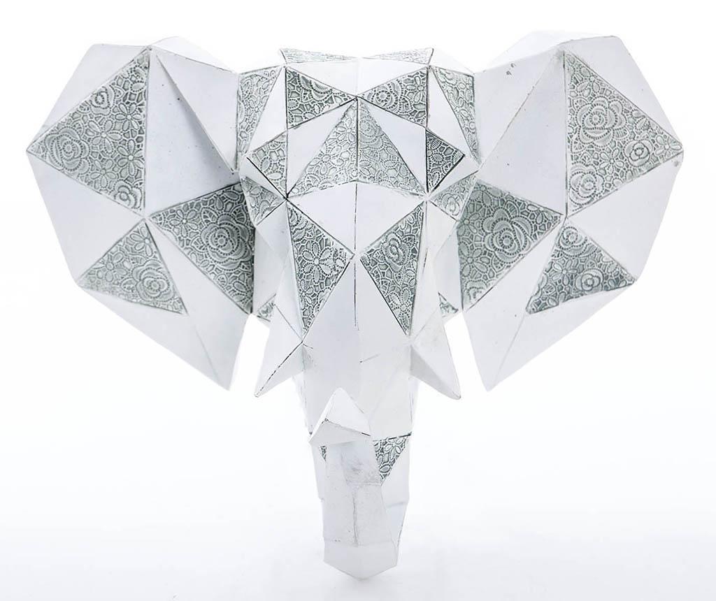 Nástenná dekorácia Elephant Head Grey