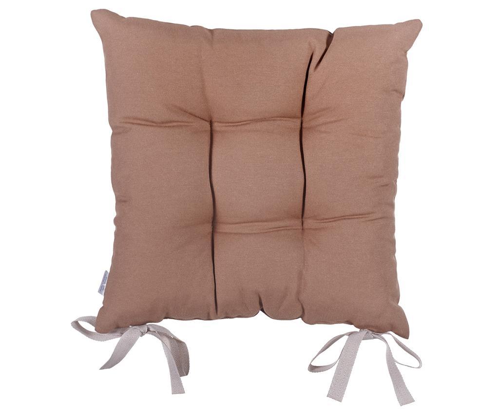 Jastuk za sjedalo Anna Cream Brown 37x37 cm
