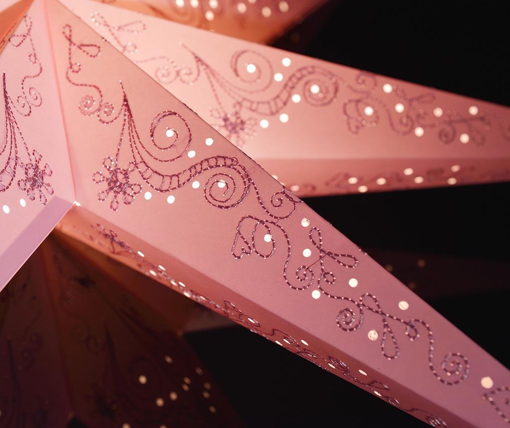 Závěsná světelná dekorace Pink Stitching