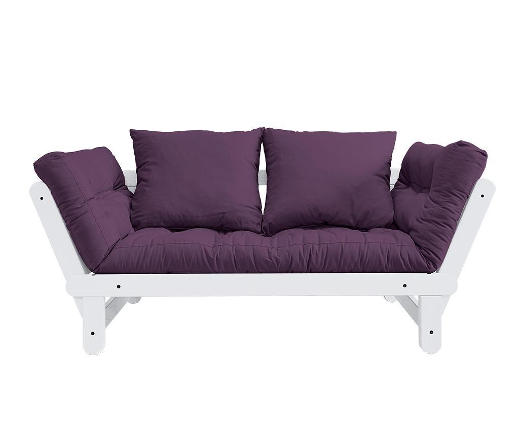 Sofa extensibila Beat White and Purple