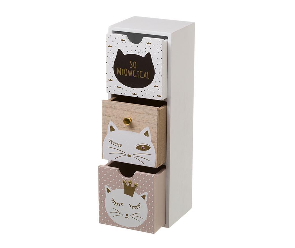 Kutija s 3 ladice Meowgical White