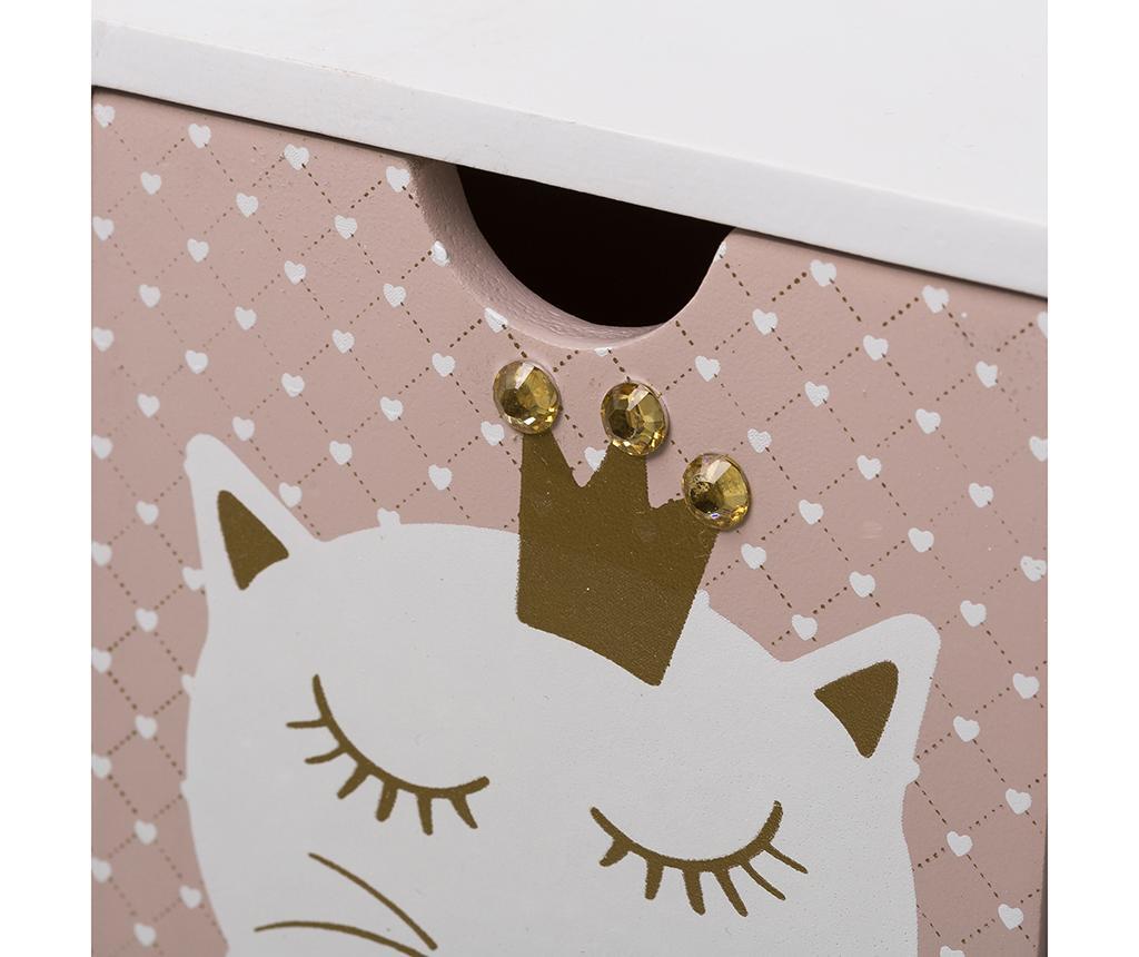 Kutija s 3 ladice Meowgical Long White