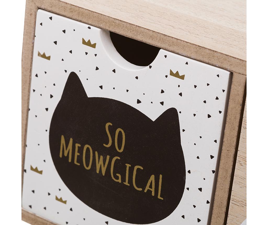 Κουτί με 3 συρτάρια Meowgical Long Brown