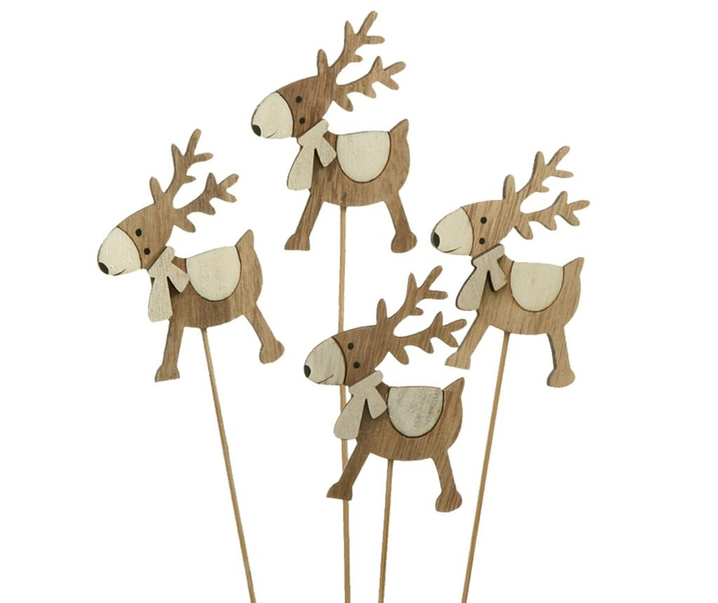 Set 4 decoratiuni Ferdinand Reindeer