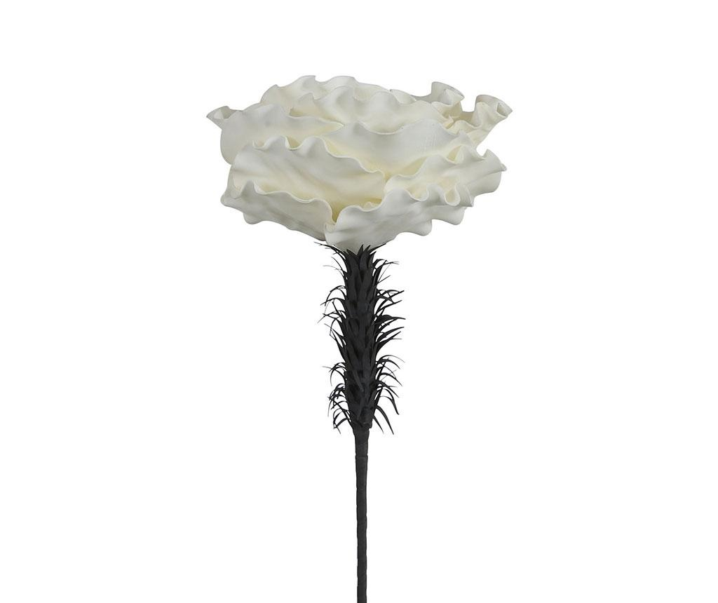 Floare artificiala White Cabbage Rose
