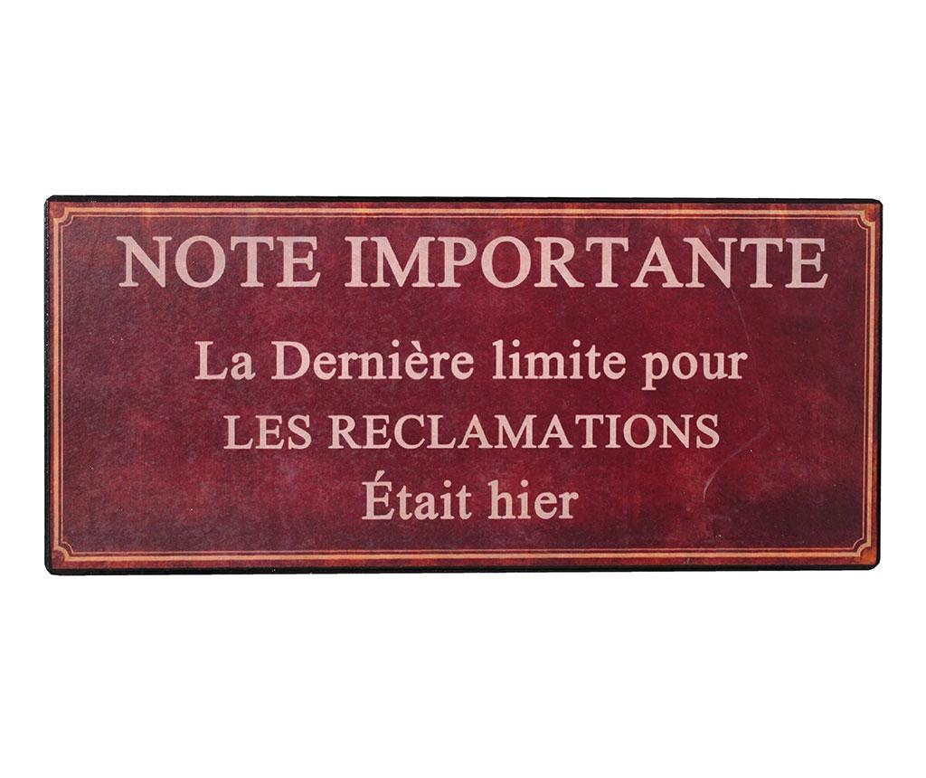 Decoratiune de perete Note Importante