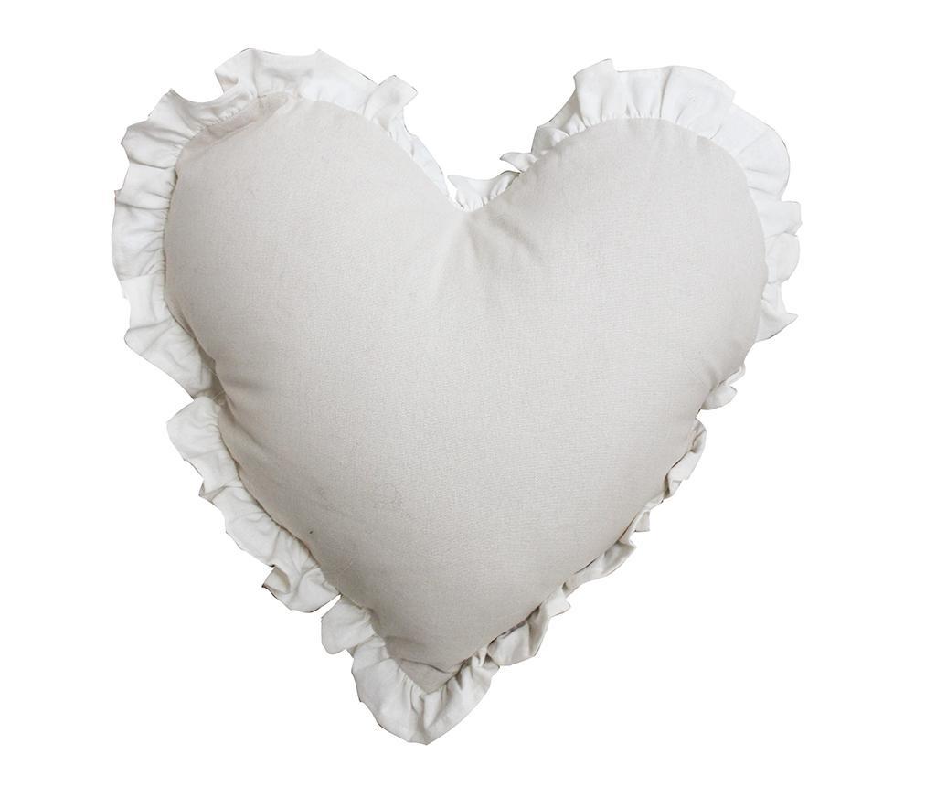 Perna decorativa Chantal Heart Light Dove Ivory 40x40 cm