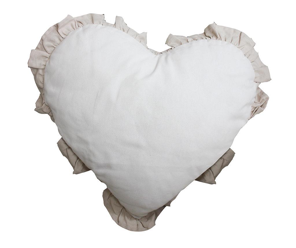 Perna decorativa Chantal Heart Ivory Light Dove 40x40 cm