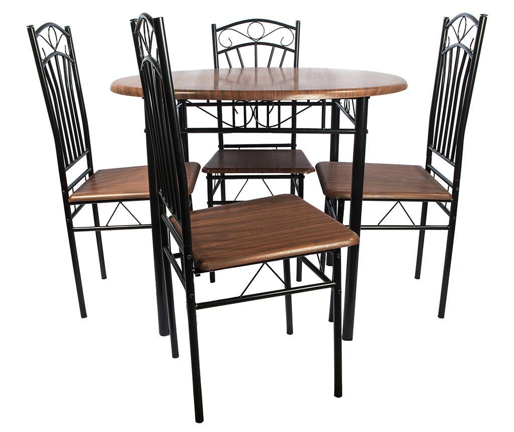 Set - miza in 4 stoli Olivia