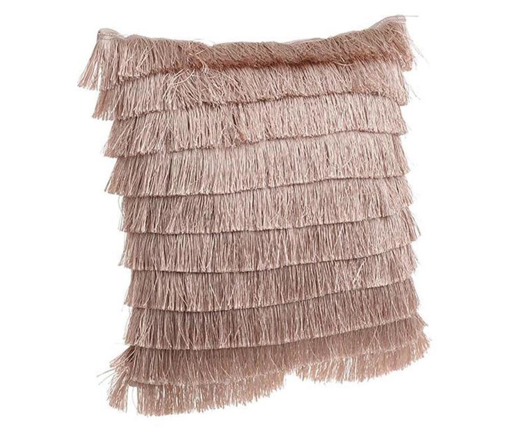 Okrasna blazina Fringes Brown 40x40 cm
