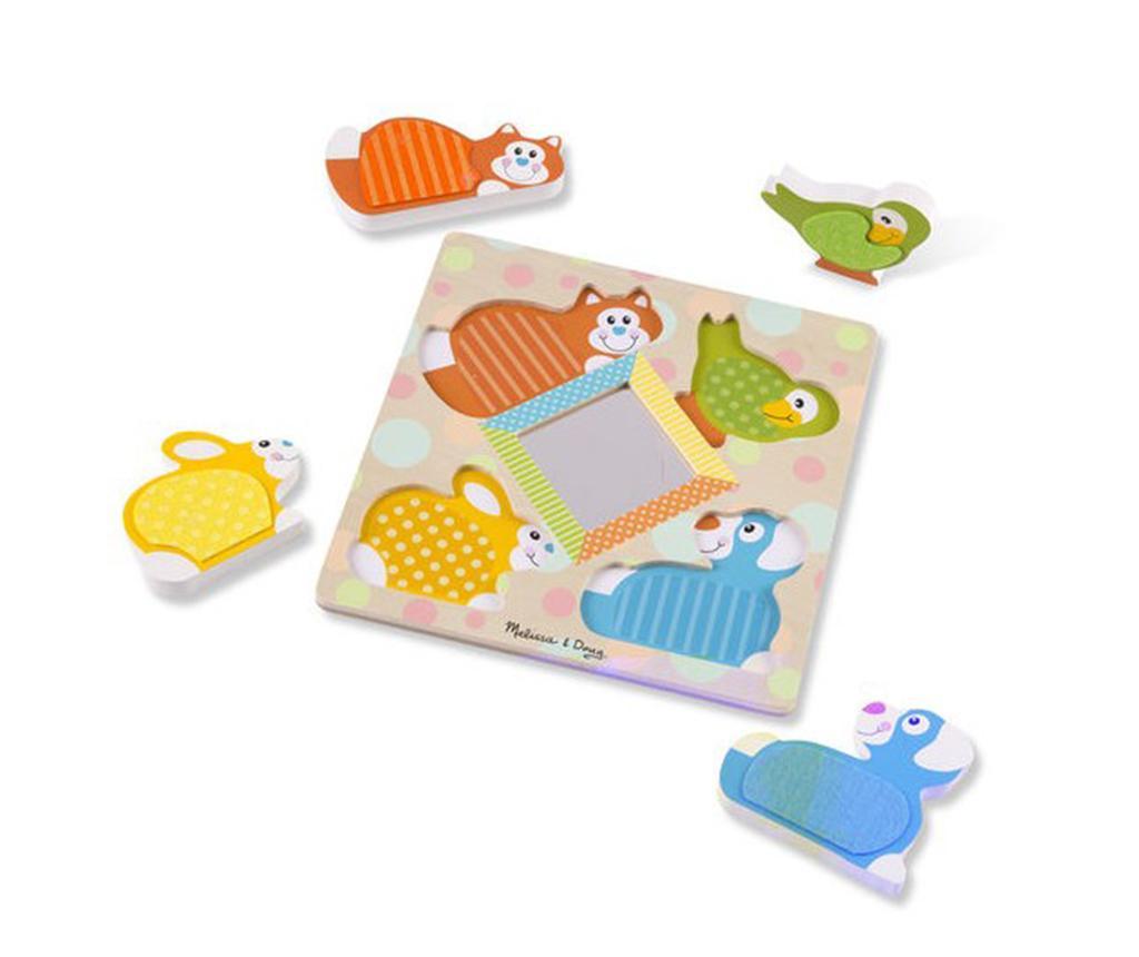 Joc tip puzzle 5 piese Pets
