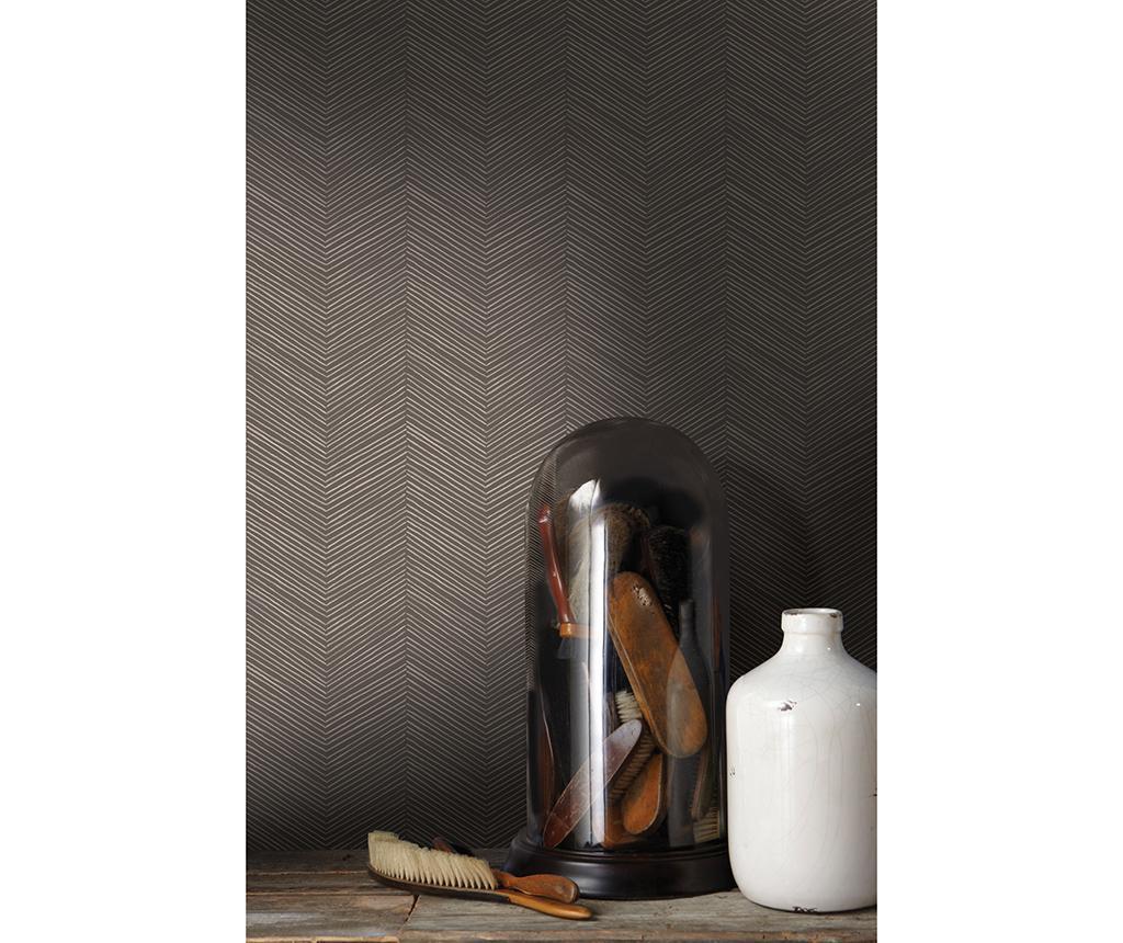 Arrow Weave Cocoa Tapéta 53x1005 cm