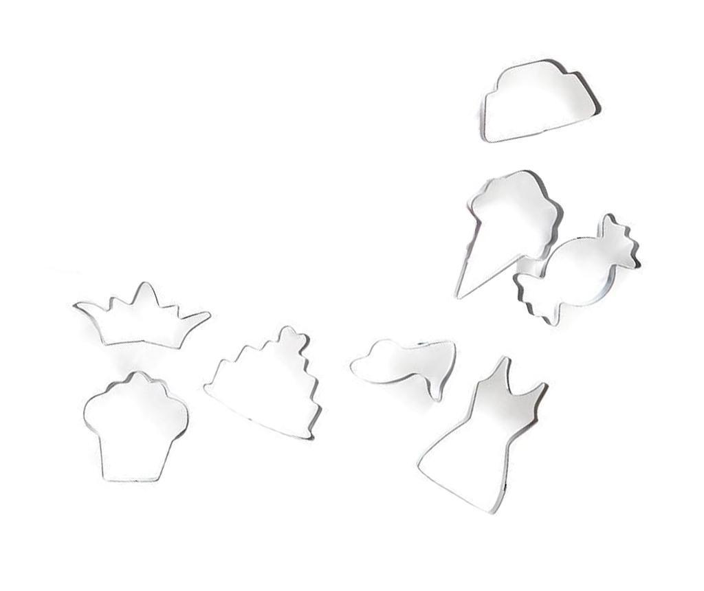 Set 8 forme pentru decupat aluat Princess Cupcake