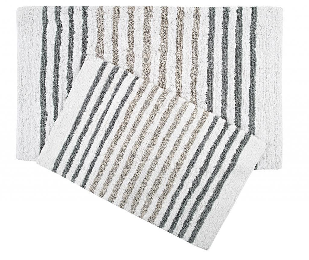 Set 2 kupaonska tepiha Grenada Brown Grey