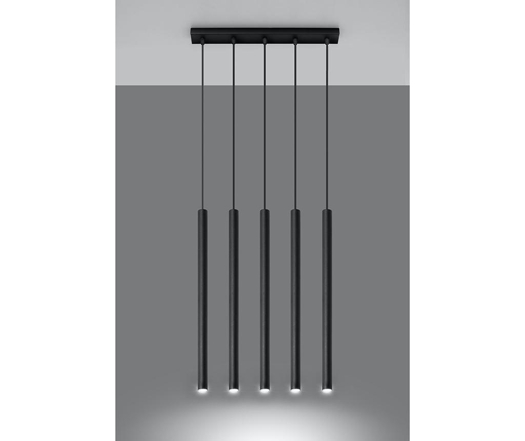 Závěsná lampa Fideus Five Black