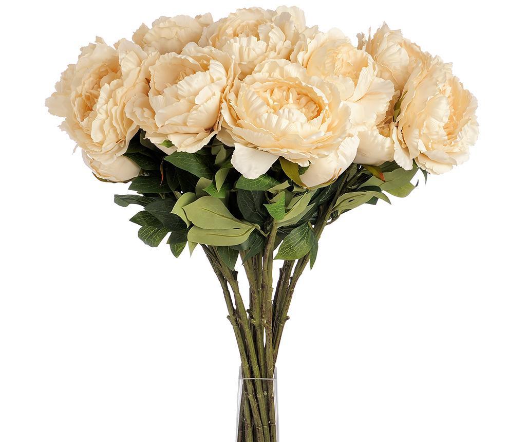 Floare artificiala Peony Cream
