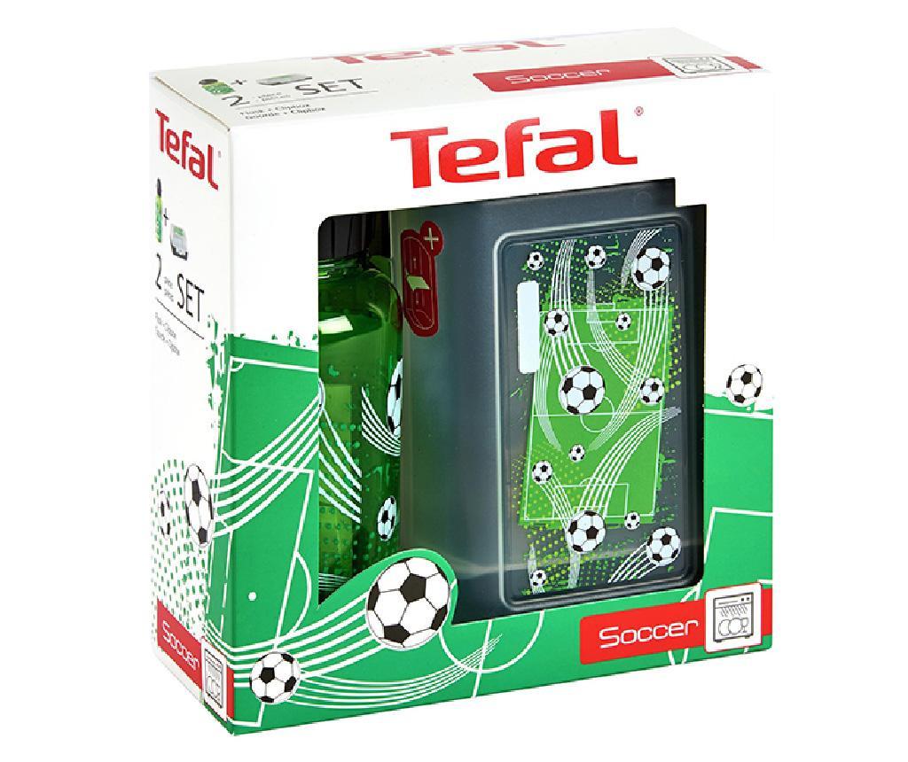 Set - športna plastenka in škatla za hrano Soccer
