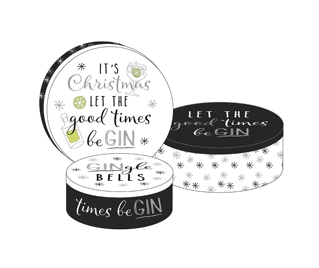 Good Time Be Gin 3 db Doboz fedővel
