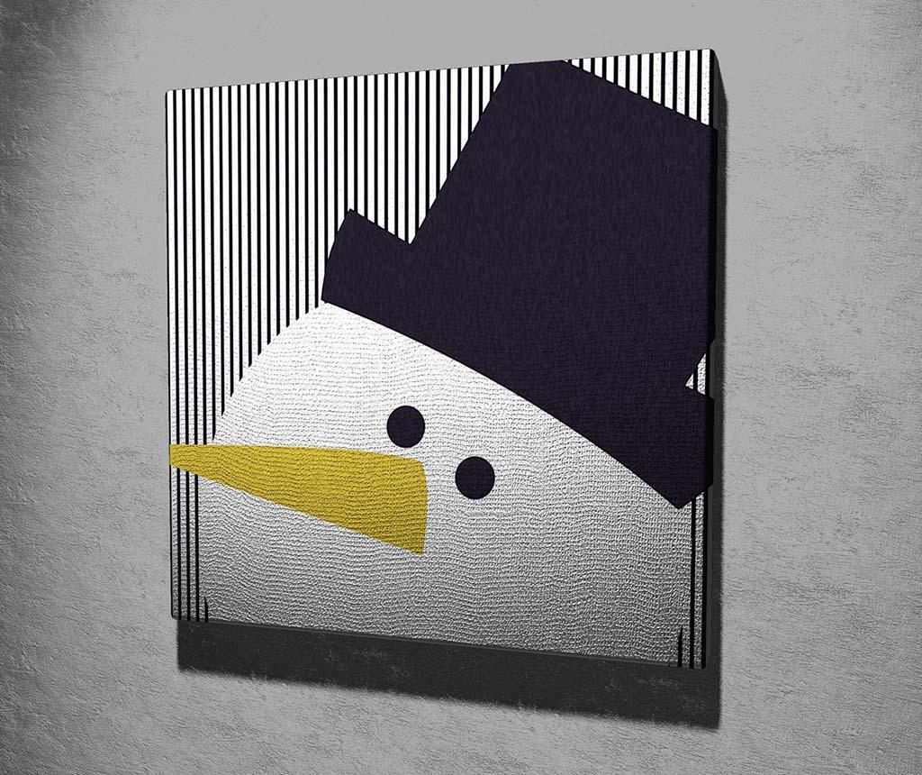 Slika Black Hat Snowman 45x45 cm