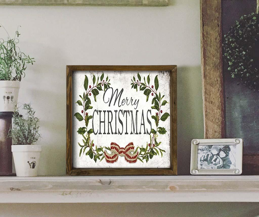 Tablou Merry Chtistmas Classic 34x34 cm