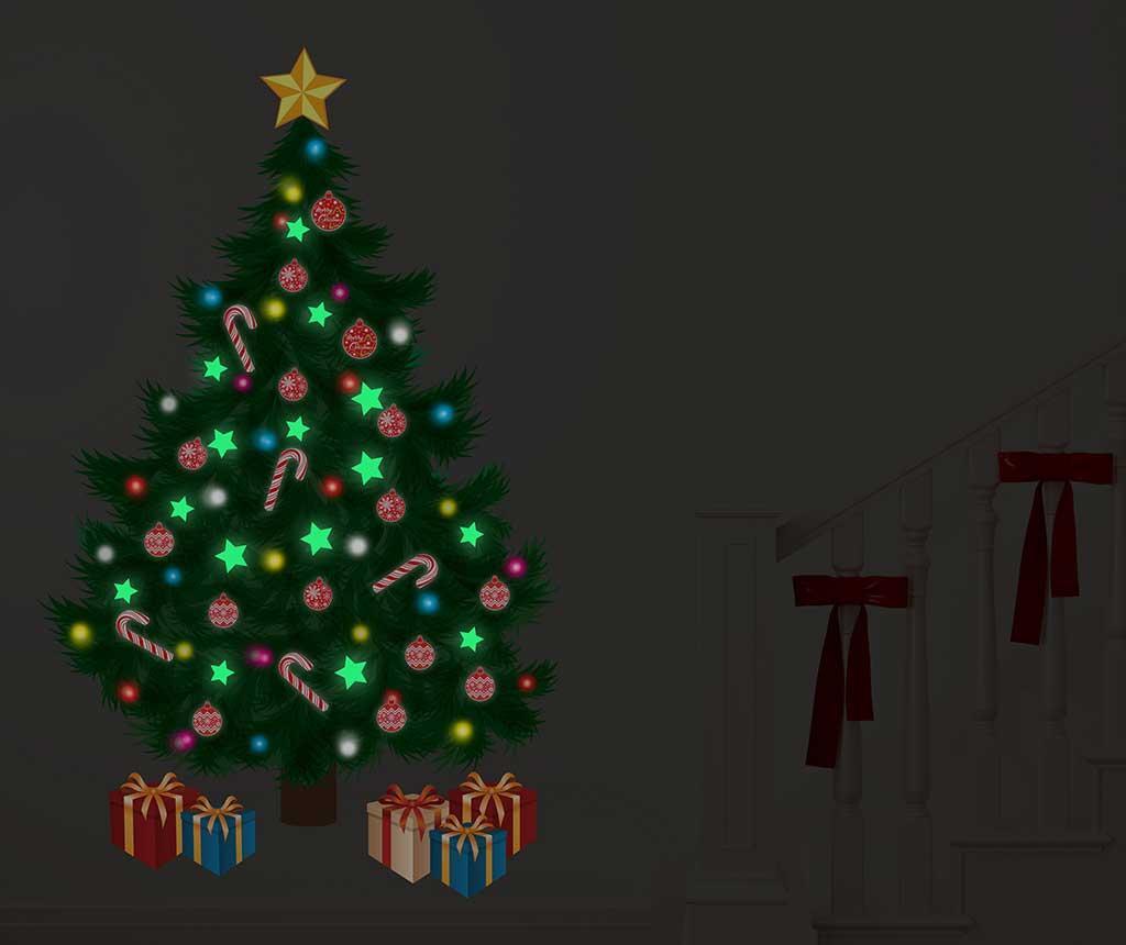 Nalepka, ki sveti v temi Starring Night by The Christmas Tree