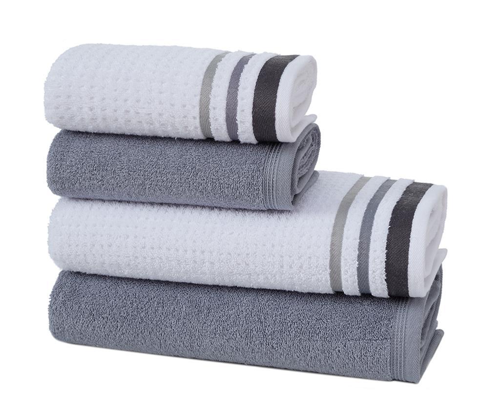 Zestaw 4 ręczników kąpielowych Alsop Grey