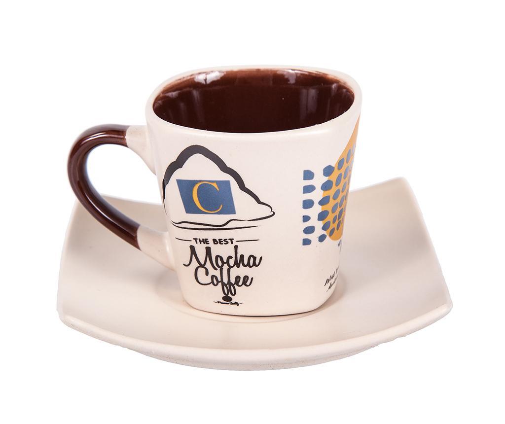 Set 6 šalica i 6 tanjurića Mocha Coffee