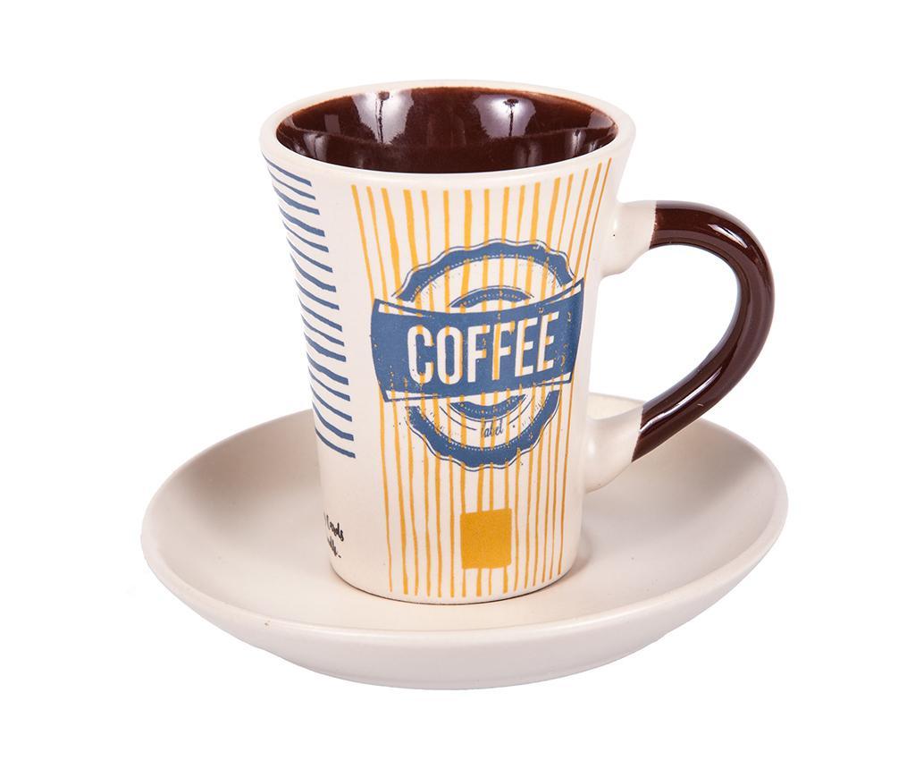 Mocha Coffee Tall 6 db Csésze és 6 db kistányér