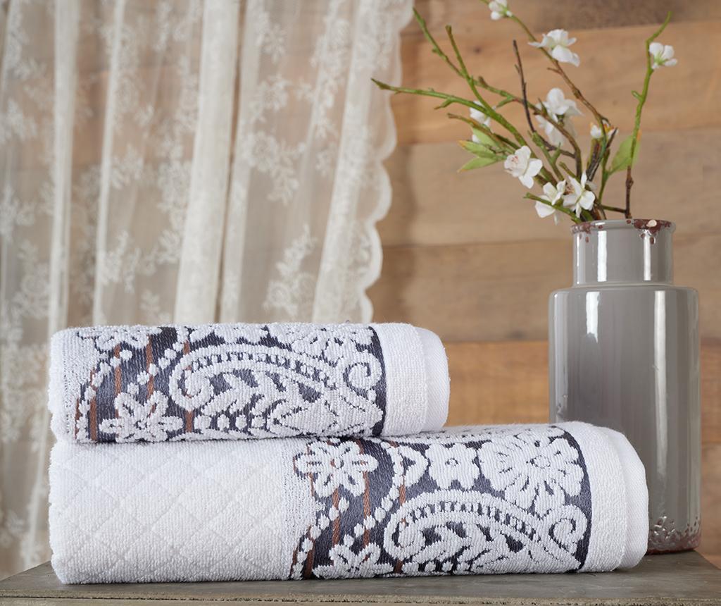 Zestaw 2 ręczników kąpielowych Jacquard Lauren Dark Grey