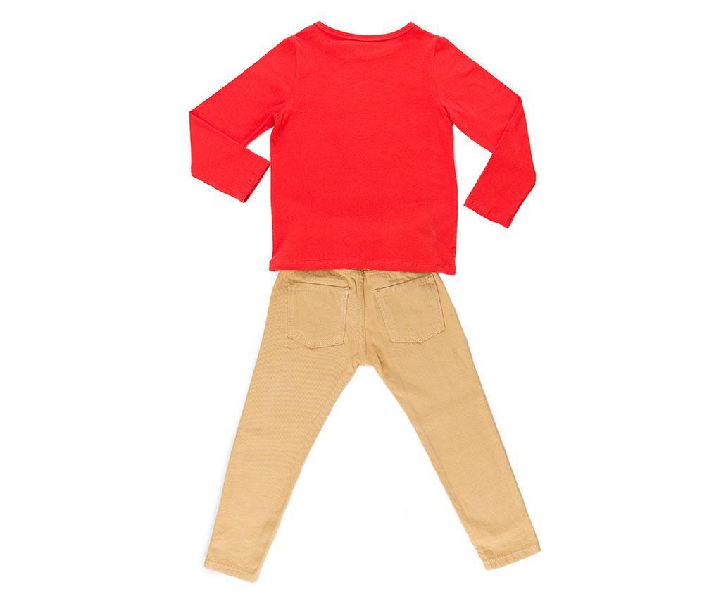 Set bluza si pantaloni copii Smile Gabardine 4 ani