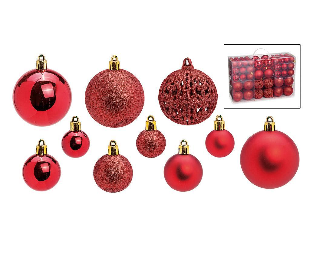 Set 100 globuri decorative Festive Red