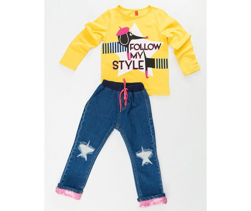 Otroški komplet - majica in hlače Stylish Dog 3 let