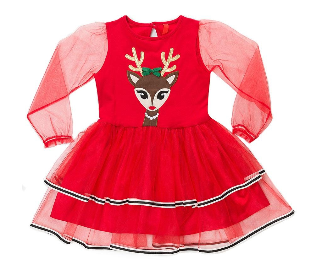 Rochie cu maneca lunga pentru copii Tulle Deer 4 ani