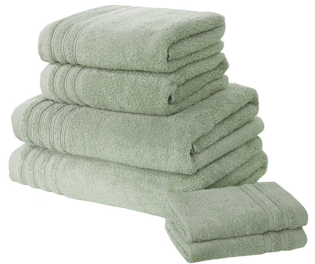 Set 6 kupaonskih ručnika So Soft Green