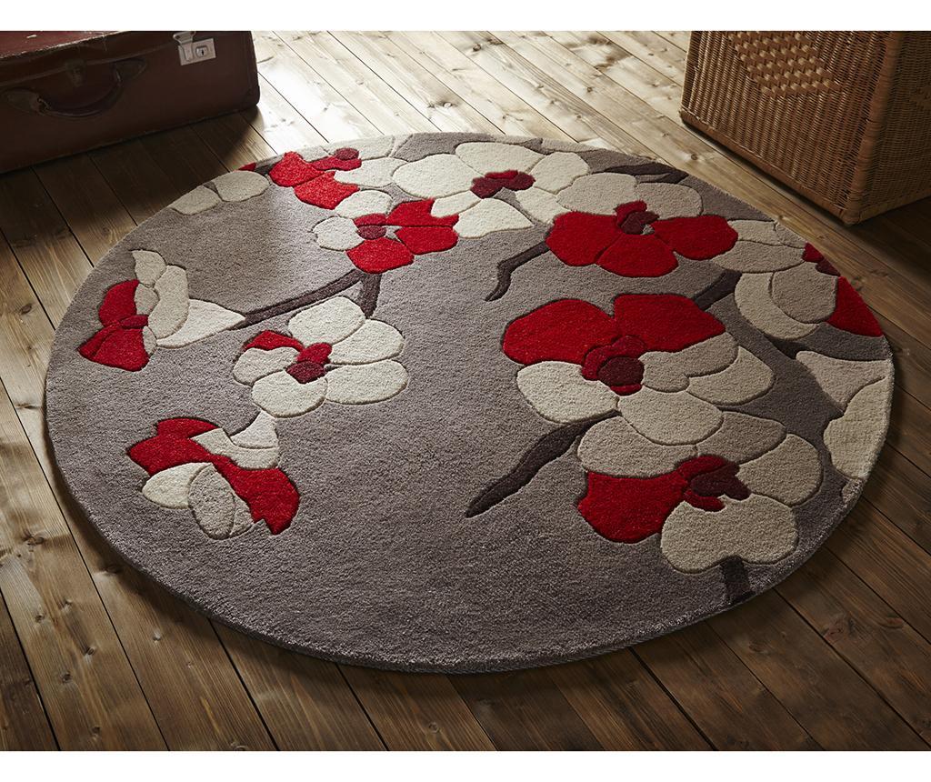 Tepih Blossom Red Round 135 cm