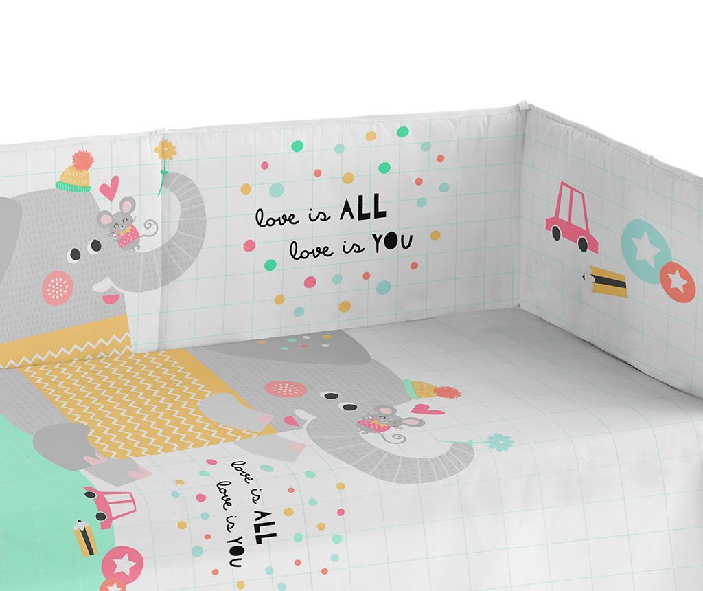 Zaštita za krevetić Love Is All 40x180 cm