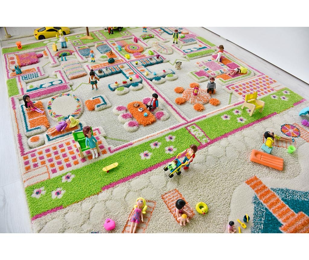 Covor de joaca Beach Houses Middle 3D 100x150 cm