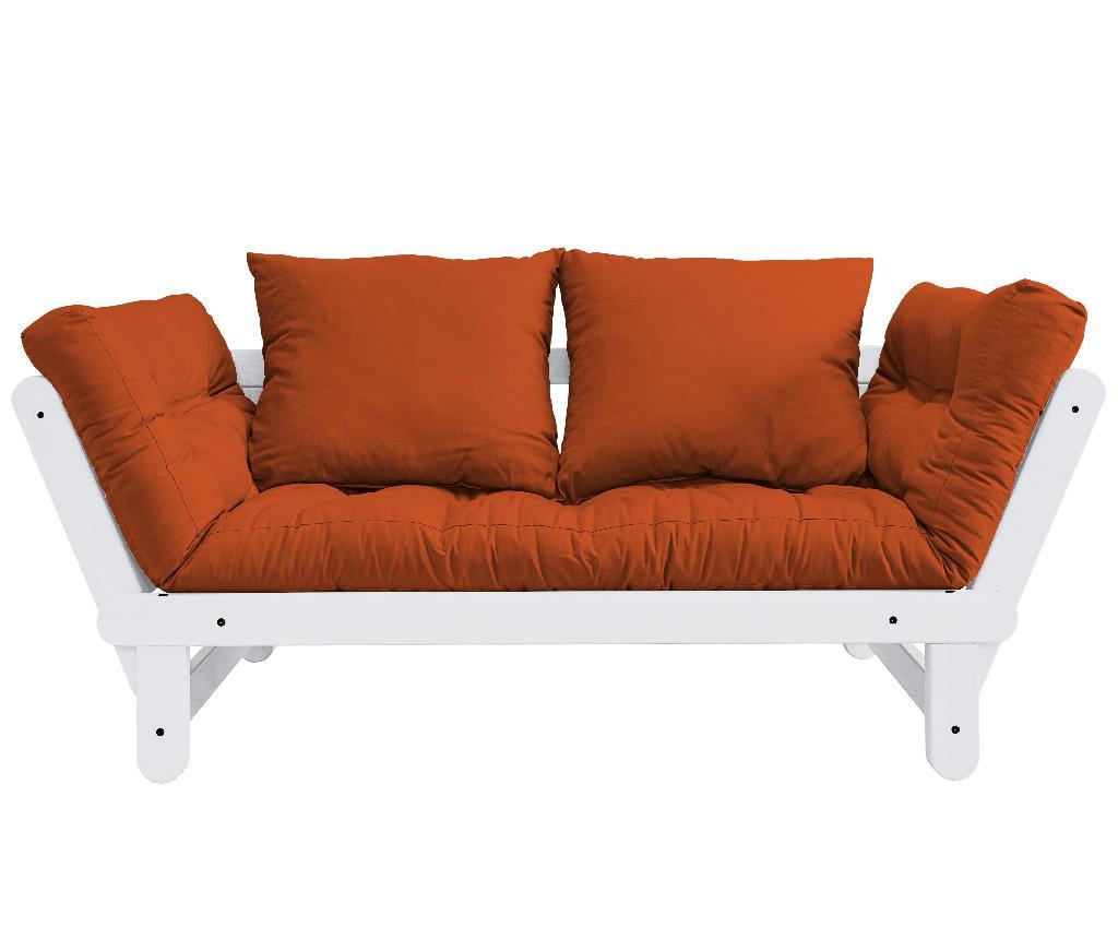 Sofa extensibila Beat White and Orange