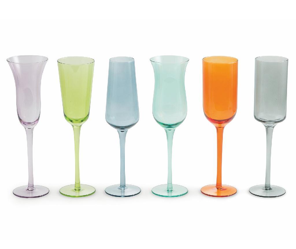 Set 6 kozarcev za šampanjec Cromia 200 ml