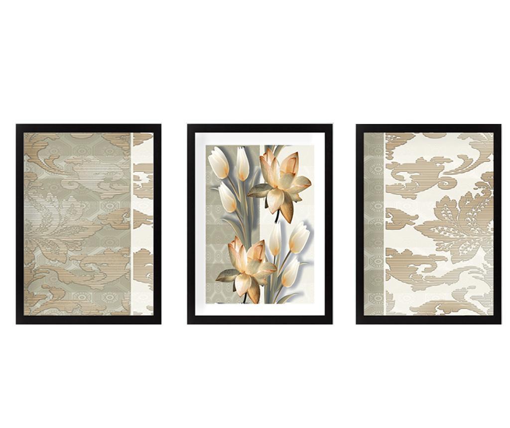 Set 3 tablouri Tulips 24x29 cm